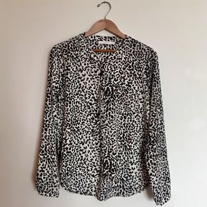 LUSH Cheetah Animal Print Top Hi-Lo SZ SM